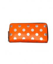 COMME des GARCONS(コムデギャルソン)の古着「オプティカルドット長財布」|オレンジ