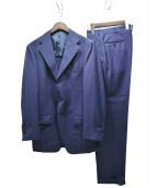 TOMORROW LAND(トゥモローランド)の古着「ストライプオーダー3Bスーツ」|ネイビー