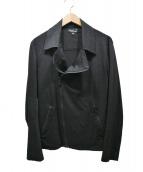 agnes b(アニエスベー)の古着「JCB2 PERFECTOリネンライダースジャケット」|ブラック