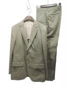 UNITED ARROWS(ユナイテッドアローズ)の古着「リネン混セットアップジャケット」 オリーブ