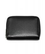 Whitehouse Cox(ホワイトハウスコックス)の古着「ラウンドファスナー折り財布」 ブラック