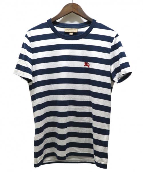 BURBERRY(バーバリー)BURBERRY (バーバリー) 18SSワンポイント刺繍ボーダーTEE ネイビー サイズ:SIZE Sの古着・服飾アイテム