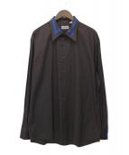 VERSACE CLASSIC(ヴェルサーチクラシック)の古着「ヴィンテージラインシャツ」|ブラウン