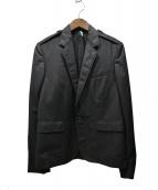 Dior Homme(ディオールオム)の古着「07SSエポレット付テーラードジャケット」|ブラック