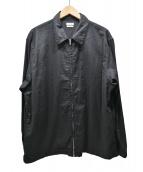 STEVEN ALAN(スティーヴンアラン)の古着「コットンリネンスイングトップ」|ブラック