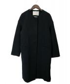 ESTNATION(エストネーション)の古着「ノーカラーコート」|ブラック