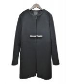YOKO CHAN(ヨーコチャン)の古着「ノーカラーパールコート」|ブラック