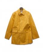 Paul Smith JEANS(ポールスミス ジーンズ)の古着「DiAPLEX ゴム引きステンカラーコート」|オレンジ