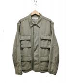 REMI RELIEF(レミレリーフ)の古着「BDUシャツジャケット」 オリーブ