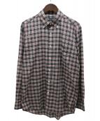 Aquascutum(アクアスキュータム)の古着「ボタンダウンチェックシャツ」|グリーン×レッド