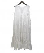 merlette(マーレット)の古着「CHELSEAティアードドレスワンピース」 ホワイト