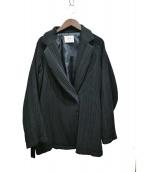 Ameri VINTAGE(アメリビンテージ)の古着「OTONA PLEAT BELT JACKET」|ブラック