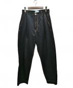 SERGE de bleu(サージ デ ブルー)の古着「20SS TACK JEANS DRY BLACK」|ブラック