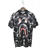 A BATHING APE(アベイシングエイプ)の古着「シャークポロシャツ」|ブラック