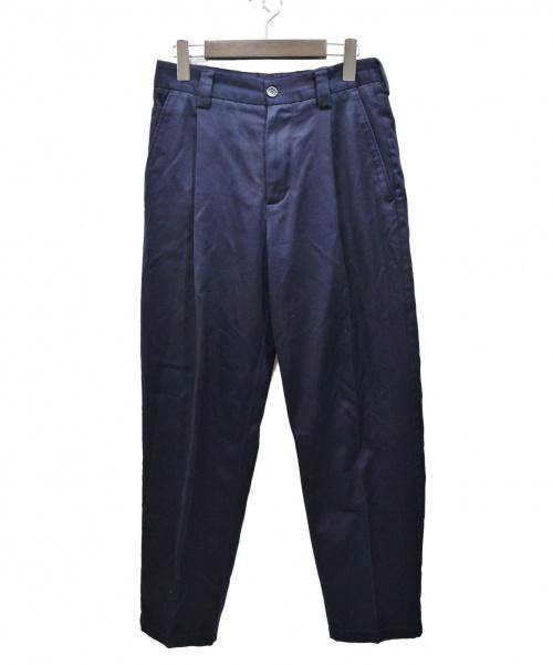 Acne studios(アクネストゥディオス)ACNE STUDIOS (アクネステュディオズ) タックワイドテーパードパンツ ネイビー サイズ:SIZE 44 ABRAM COTTONの古着・服飾アイテム