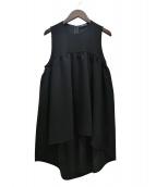 YOKO CHAN(ヨーコチャン)の古着「20SS ヘムフレアブラウス」|ブラック