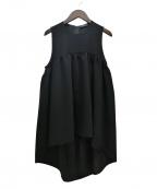 YOKO CHAN(ヨーコチャン)の古着「20SS ヘムフレアブラウス」 ブラック