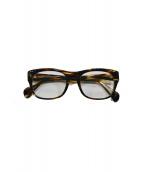 OLIVER PEOPLES(オリバーピープルズ)の古着「ウェリントン眼鏡」|ブラウン