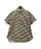 GITMAN BROS(ギットマンブラザーズ)の古着「ゼブラ総柄半袖シャツ」 ブラウン