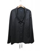SYU.HOMME/FEMM(シュウオムフェム)の古着「OVER NECK SHIRTS JKT」|ブラック