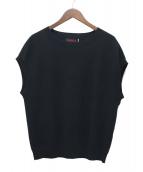 caban(キャバン)の古着「コットンカシミアクルーネックベスト」|ブラック