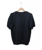 BATONER(バトナー)の古着「ガンジークルーネック半袖プルオーバー」|ネイビー