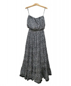 MARIHA(マリハ)の古着「「草原の夢のドレス」 ベアトップワンピース」|ブラック