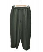 UNITED ARROWS & SONS(ユナイテッドアローズアンドサンズ)の古着「20SS PE WIDE PANTS」|オリーブ