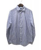 TOMORROW LAND(トゥモローランド)の古着「20SSコットンシェニール セミワイドカラーシャツ」|ブルー