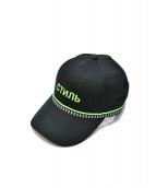 HERON PRESTON(ヘロン プレストン)の古着「20SS BASSBALL HAT HERON」|ブラック