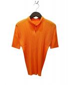 PLEATS PLEASE(プリーツプリーズ)の古着「プリーツブラウス」|オレンジ