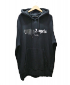 Palm Angels(パームエンジェルス)の古着「ロゴプルオーバーパーカー」|ブラック
