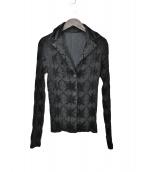 ISSEY MIYAKE FETE(イッセイミヤケ フェット)の古着「プリーツ総柄ジャケット」|ブラック