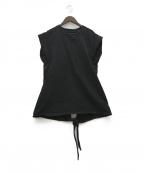 ISABEL MARANT(イザベルマラン)の古着「19SS デザインノースリーブカットソー」|ブラック