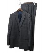 Paul Smith London(ポールスミスロンドン)の古着「チェック2Bセットアップスーツ」|グレー