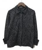 FENDI JEANS(フェンディ ジーンズ)の古着「ヴィンテージ総柄比翼シャツ」|ブラック