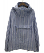 UNUSED(アンユーズド)の古着「20SS stripe pullover jacket」|ブルー