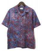 Aime Leon Dore(エメレオンドレ)の古着「タイダイ レジャーシャツ」|レッド×ブルー