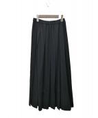 ROBE DE CHAMBRE COMME DES GARCONS(ローブドシャンブル コムデギャルソン)の古着「ロングプリーツスカート」 ブラック