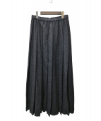 ROBE DE CHAMBRE COMME DES GARCONS(ローブドシャンブル コムデギャルソン)の古着「ウールプリーツスカート」 グレー