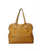 土屋鞄(ツチヤカバン)の古着「クラルテ シュリンクレザーバッグ」|ベージュ