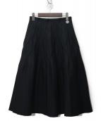 BORDERS AT BALCONY(ボーダーズアットバルコニー)の古着「PLEATED SKIRT/プリーツスカート」 ブラック