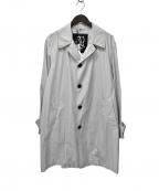 Sealup(シーラップ)の古着「20SSライトポリエステルバルカラーコート」|グレー