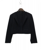 yohji yamamoto+Noir(ヨウジヤマモトプリュスノアール)の古着「オールドショートジャケット」|ブラック