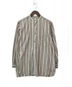 Phlannel(フランネル)の古着「ストライププルオーバーシャツ」 ブラウン