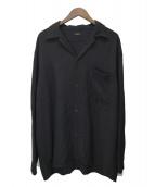 COMOLI(コモリ)の古着「20SSレーヨンオープンカラーシャツ」|ブラック
