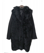 muller of yoshiokubo(ミュラーオブヨシオクボ)の古着「ファー切替コート」|ブラック