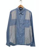 COMME des GARCONS HOMME(コムデギャルソンオム)の古着「マルチストライプシャツ」|ホワイト×ブルー