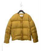 MACPHEE(マカフィー)の古着「シームレスノーカラーダウンジャケット」 イエロー