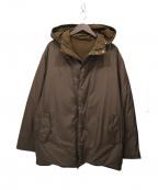 HERMES(エルメス)の古着「カシミヤリバーシブルダウンジャケット」|ブラウン